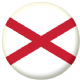 St Patrick's Cross Flag 58mm Button Badge